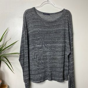 Brandy Melville Marled Gray Knit Slouchy Sweater